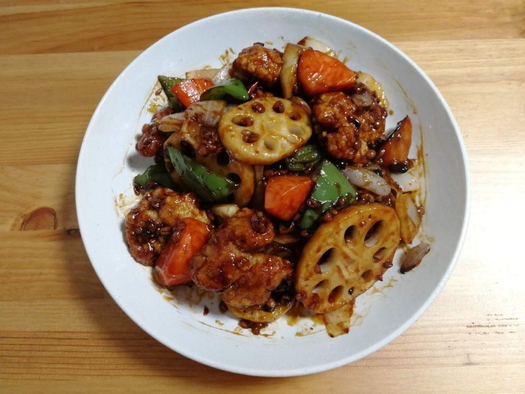 キッチント 鶏竜田と野菜の雑穀 黒酢あんかけ